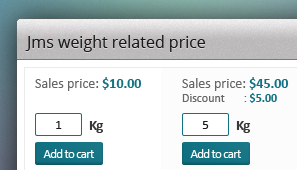 JMS weight related price