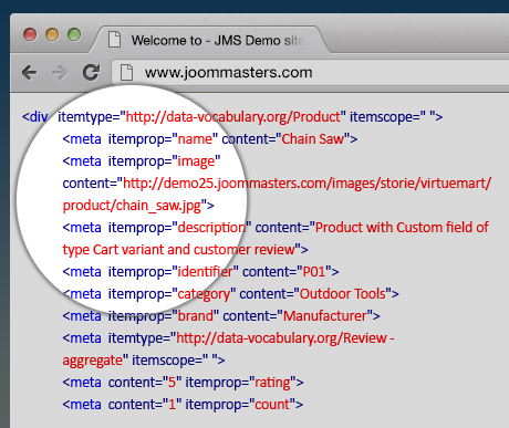 JMS Rich snippets for Virtuemart plugin