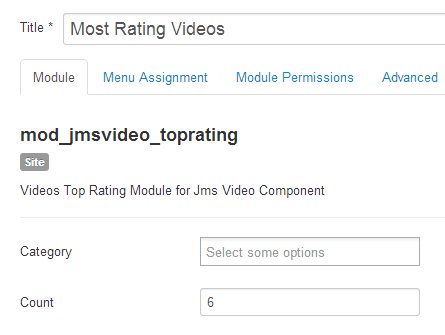 JMS Video most rating module