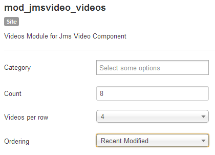 JMS Video Recent video module