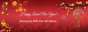 2016 Lunar New Year is Coming! Enjoy the moments with 30% Discount